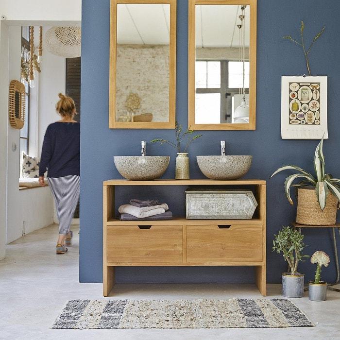 vasque et meuble Meuble sous vasque en bois de teck 110 kwarto teck brut Tikamoon | La  Redoute