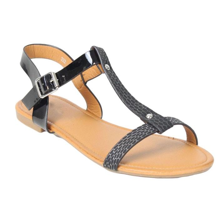 Sandales 222 noir Kebello