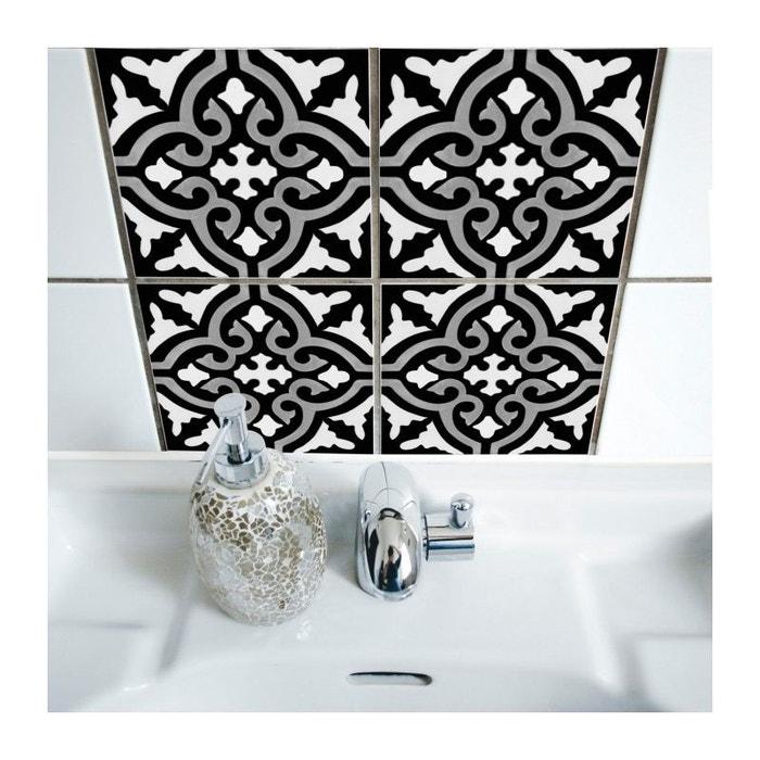 stickers pour carrelage de salle de bain ou cuisine rimal noir
