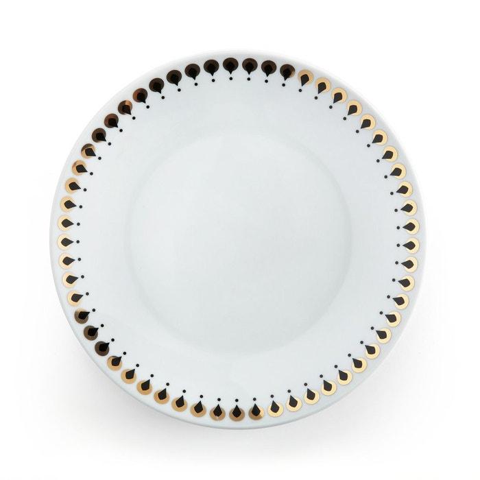 lot 4 assiettes dessert mellah blanc imprim la redoute interieurs la redoute. Black Bedroom Furniture Sets. Home Design Ideas