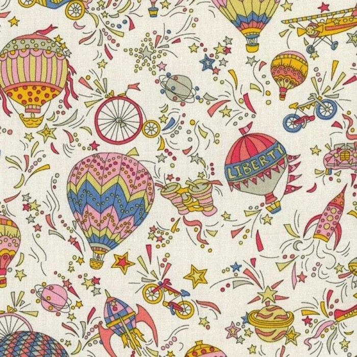 tissu liberty sky high col bonbons denim tournesol rose la mercerie parisienne la redoute. Black Bedroom Furniture Sets. Home Design Ideas