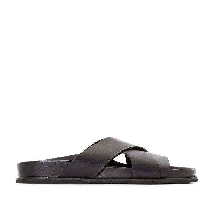 Mules cuir sandola noir Kickers
