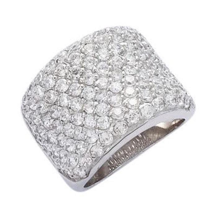 Bague anneau luxe pavage oxyde de zirconium argent 925 couleur unique So Chic Bijoux | La Redoute Obtenir La Dernière Mode 3xkxT
