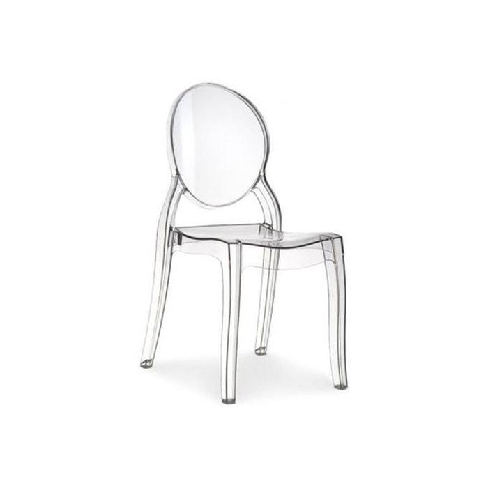 Romantique Plexi Elizabeth Médaillon Transparente Chaise WxoEQdCreB