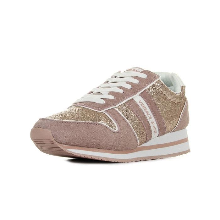 Baskets femme linea fondo stella dis1 suede coated shiny textile  rose-doré Versace  La Redoute