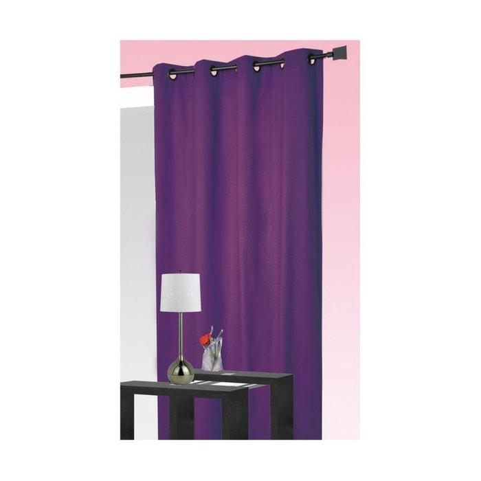 rideau 100 occultant ignifug m1 non feu prune prune home maison la redoute. Black Bedroom Furniture Sets. Home Design Ideas