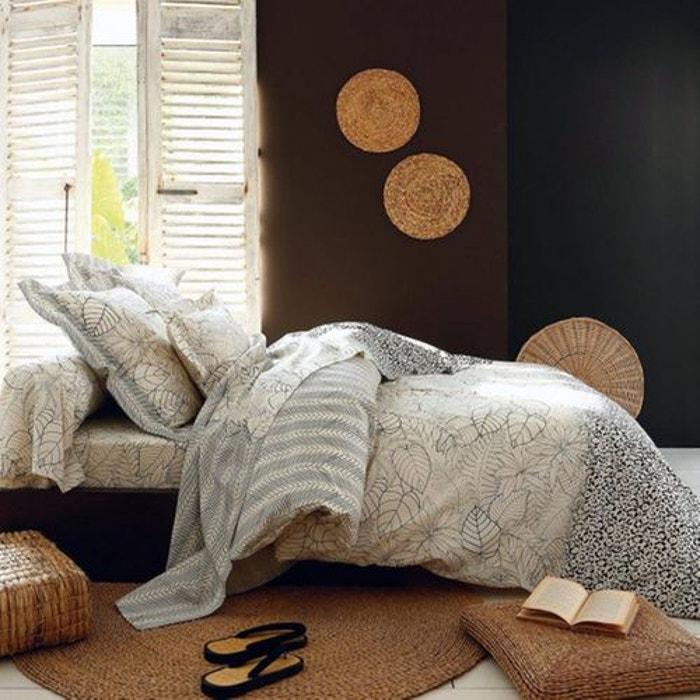 drap plat natura ecru noir tradilinge la redoute. Black Bedroom Furniture Sets. Home Design Ideas