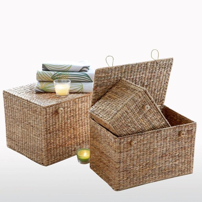 Caja de almacenaje jacinto de mar, Semra (lote de 3)  La Redoute Interieurs image 0
