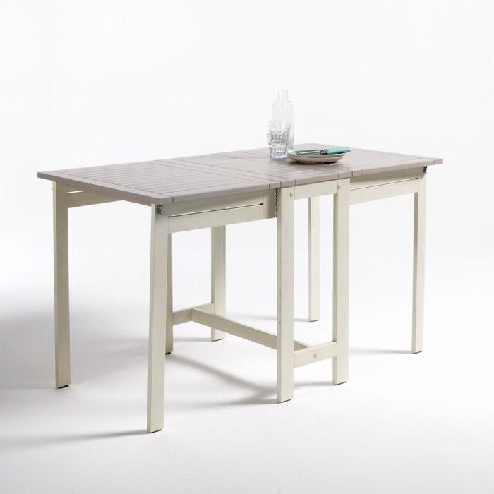 Table de jardin pliante acacia manta argile la redoute - Table jardin la redoute ...