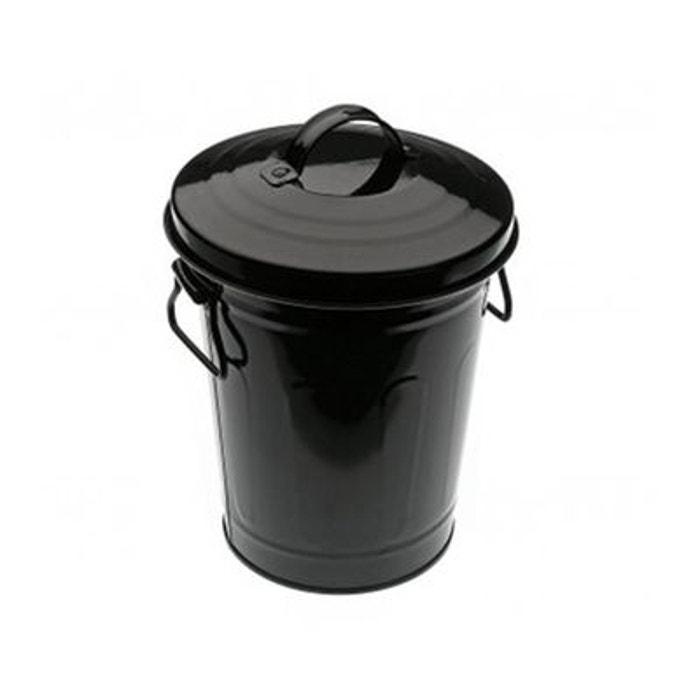petite poubelle 3l noire avec couvercle dusb noir wadiga. Black Bedroom Furniture Sets. Home Design Ideas