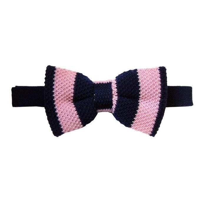 Noeud papillon tricot, laine, club marine et rose rose Tyler Et Tyler | La Redoute
