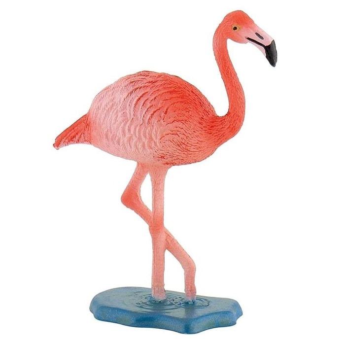 Figurine oiseau flamand rose couleur unique bullyland for Oiseau par la couleur