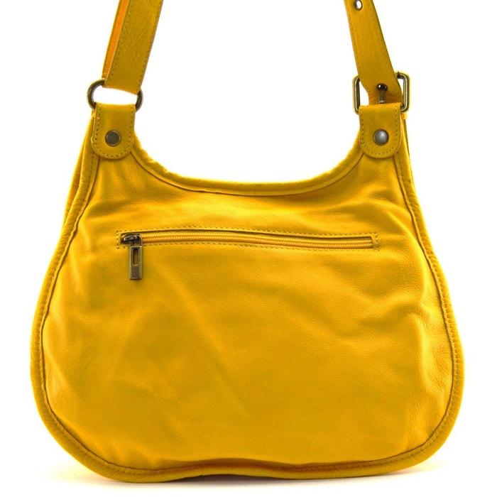09eedcee8c9c4 Sac à main besace cuir lisse style cartouchière Oh My Bag   La Redoute