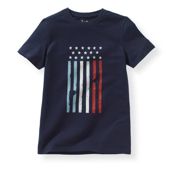 Image Pyjama in 2 stoffen met vlagprint La Redoute Collections