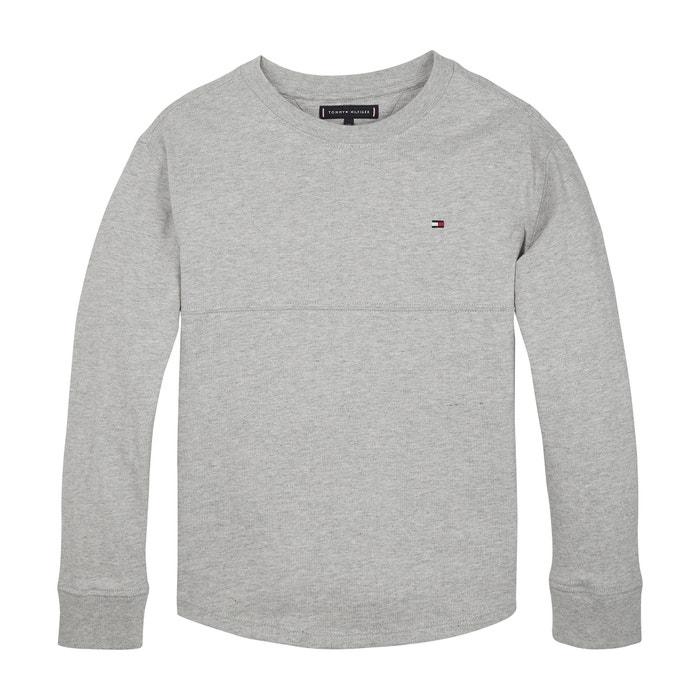 ad552f6022563b T-shirt met lange mouwen en motief achteraan grijs Tommy Hilfiger | La  Redoute