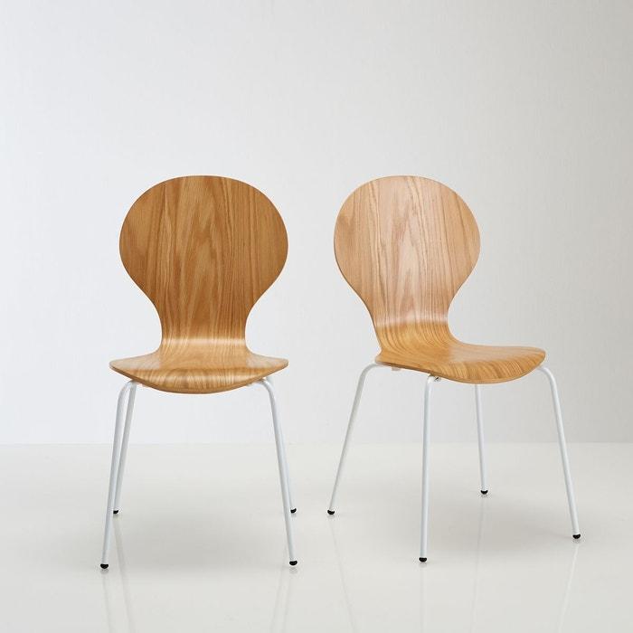 Lot de chaises plaquée chêne, JIMI  La Redoute Interieurs image 0