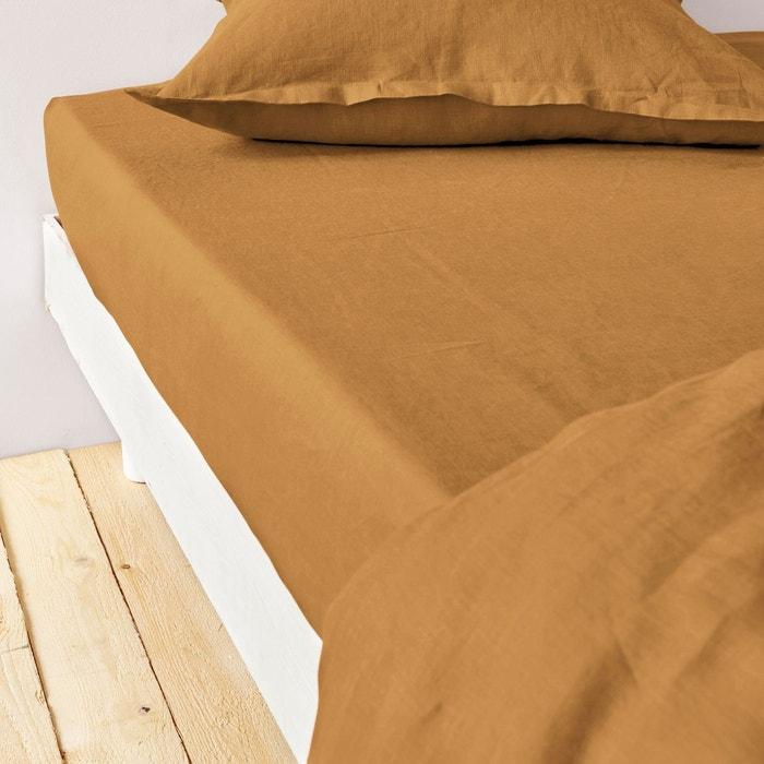drap housse en lin la redoute Drap housse pur lin lave La Redoute Interieurs | La Redoute drap housse en lin la redoute