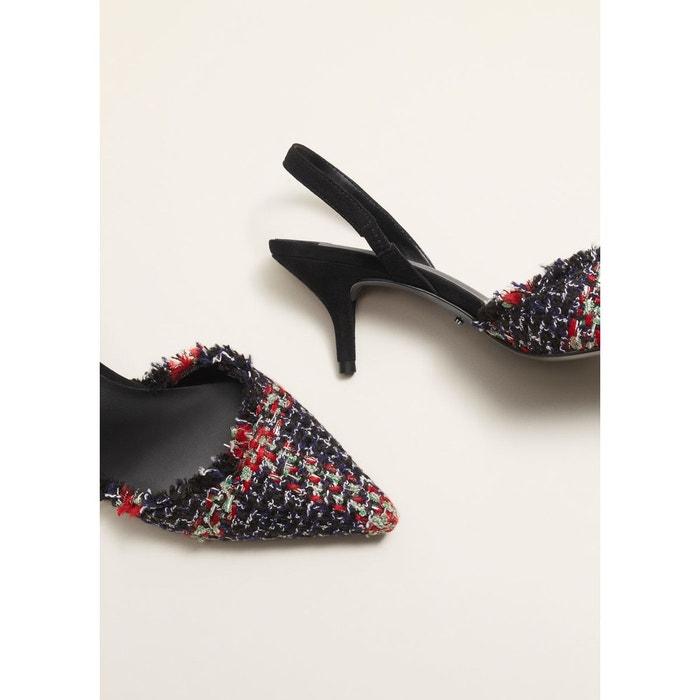 Faux Pas Cher MANGO Chaussures talon tweed Boutique Vente En Ligne W7Kv29O