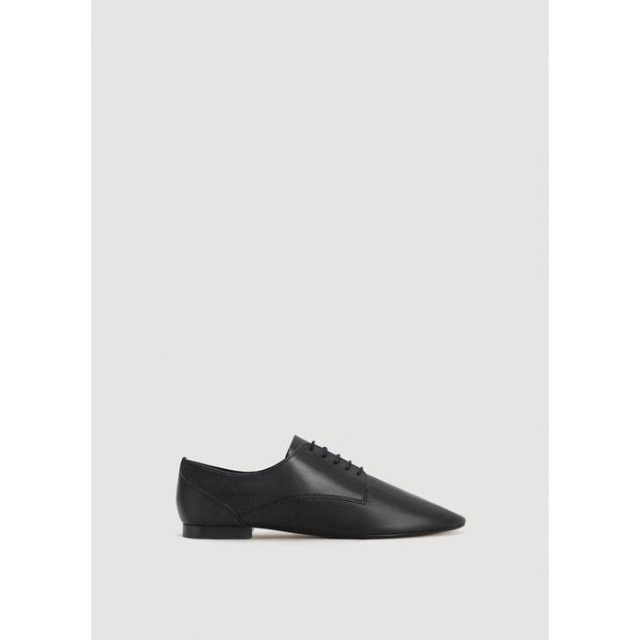 Chaussures plates cuir  bleu ciel Mango  La Redoute