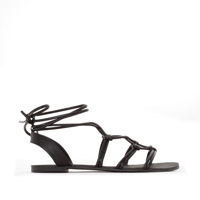 Sandales plates brides tressées R Edition