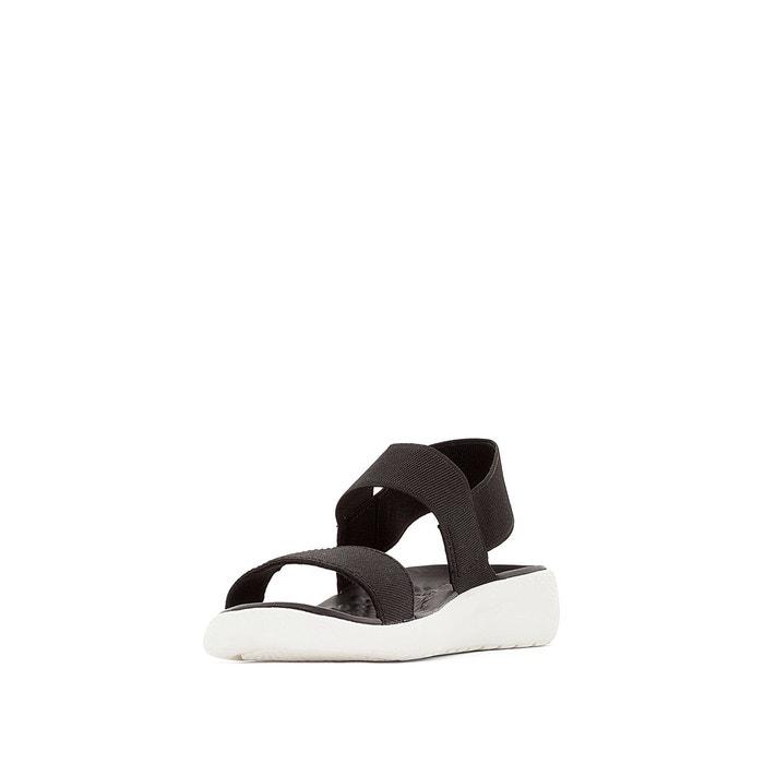 Sandales compensées literide sandal w noir/blanc Crocs