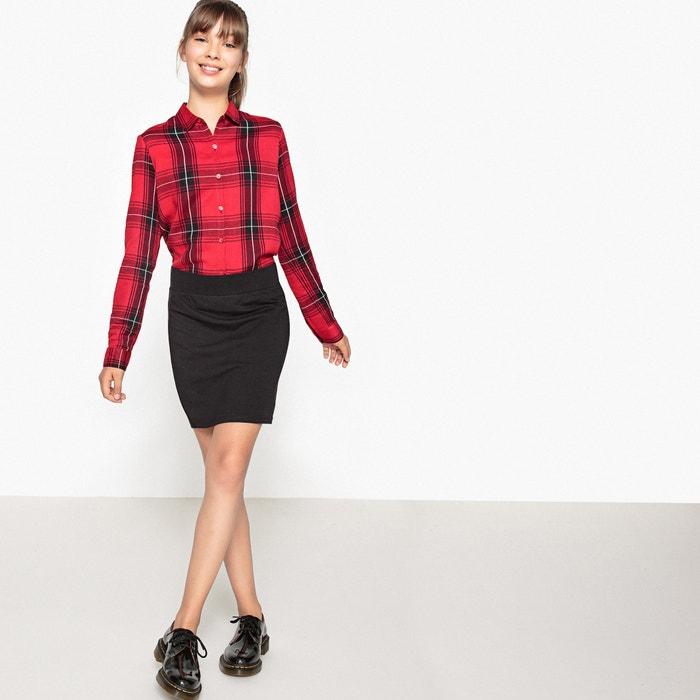 b93d1f99a6 Stretch cotton elasticated waist tube skirt