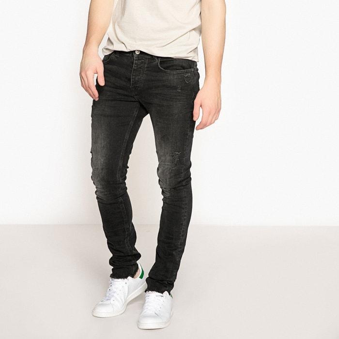 Jeans slim fondo sfilacciato  La Redoute Collections image 0