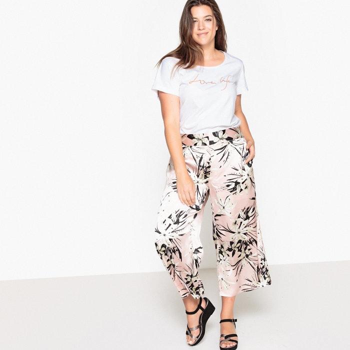 """Floral Print Wide Leg Trousers, Length 24""""  CASTALUNA image 0"""