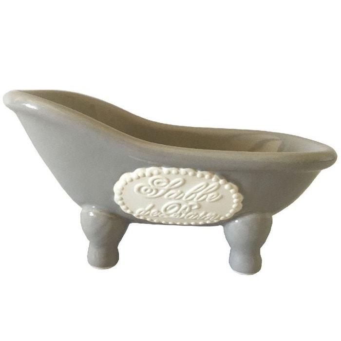 Baignoire porte savon gris et beige couleur unique enesco for Baignoire couleur grise