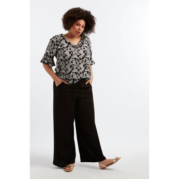 267f05f77f4 Pantalon large noir Ms Mode