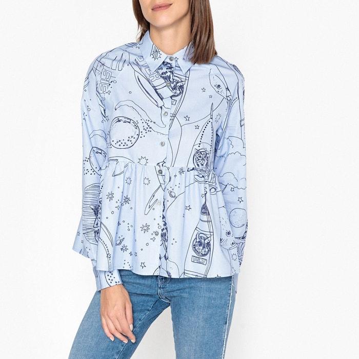 chemise manches longues bastia bleu ciel paul and joe sister la redoute. Black Bedroom Furniture Sets. Home Design Ideas