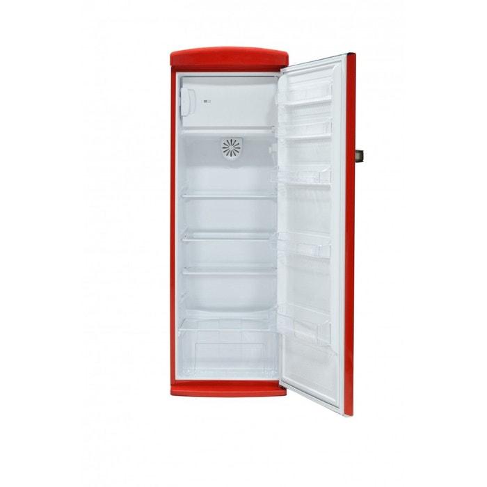 Telefunken Tfnvinred Réfrigérateur Porte Vintage Rouge L - Refrigerateur 1 porte grand volume