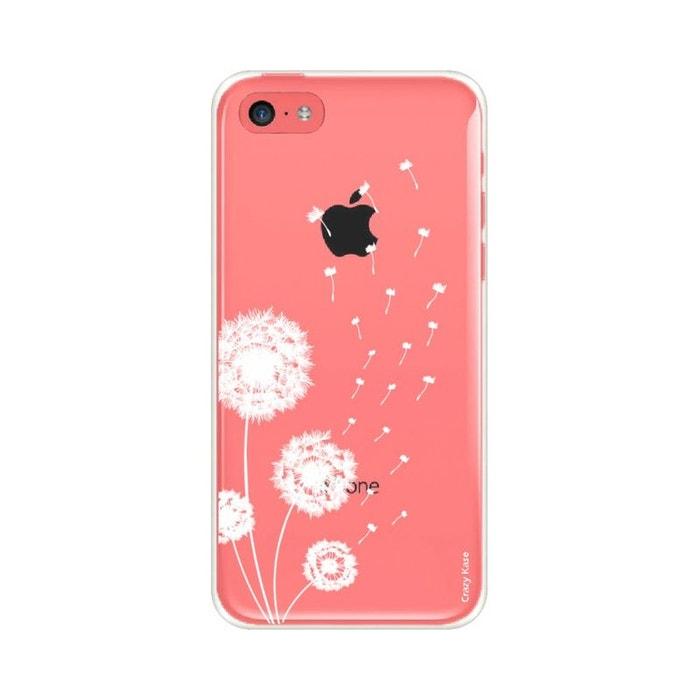 Coque pour iPhone 5C souple Fleurs de pissenlit