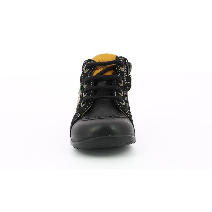 d7f3522eae5839 Bottillon cuir bébé bakari noir Kickers | La Redoute
