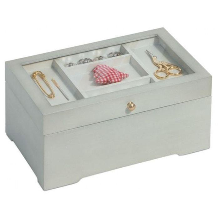 Bo te ouvrages en bois blanc prym art 612532 couleur for Boite a couture la redoute