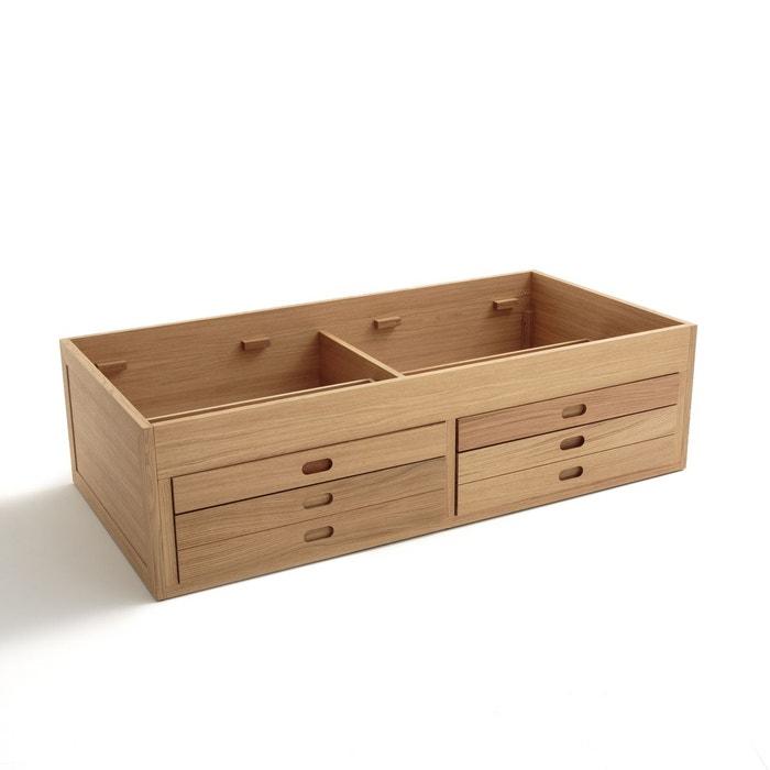 lit plateforme ch ne octavo ch ne naturel am pm la redoute. Black Bedroom Furniture Sets. Home Design Ideas