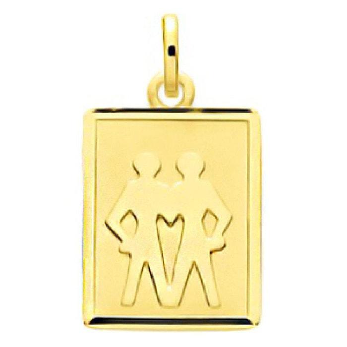 Pendentif zodiaque plaque rectangulaire signe astrologique gémeaux or jaune 750/000 (18 carats) couleur unique So Chic Bijoux | La Redoute Vraiment Pas Cher Commercialisables En Ligne 18NwFC