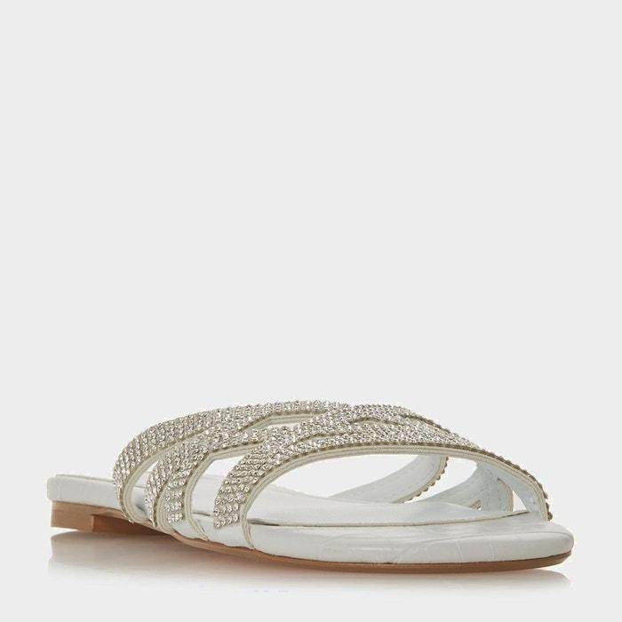 Sandales à brides croisées ornées de strass Nicekicks Prix Pas Cher yP4ft