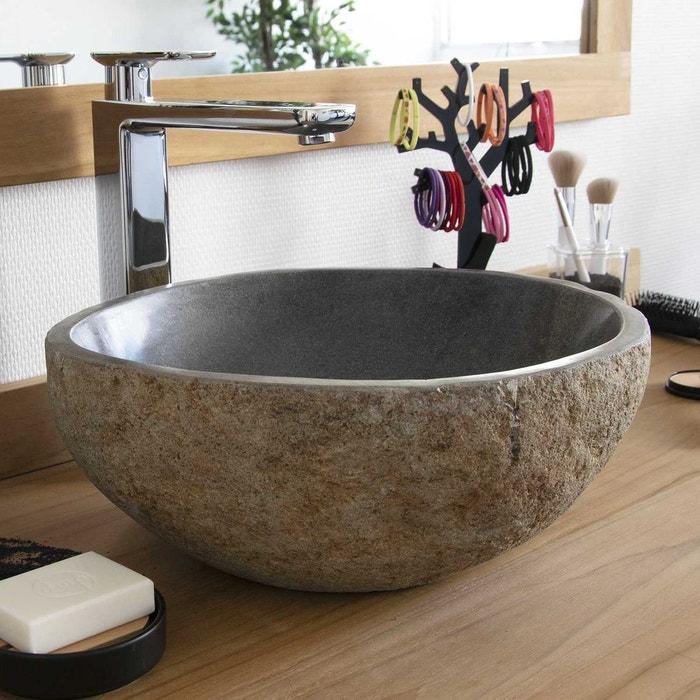 vasque a poser en pierre Vasque à poser en pierre de rivière eden-roc 30 naturel Ocean Line | La  Redoute