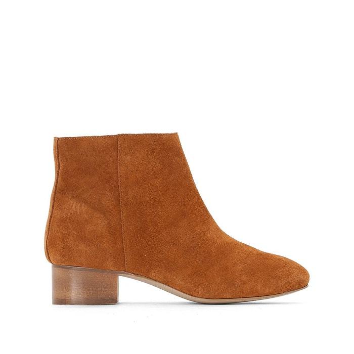 Boots cuir talon bois R studio