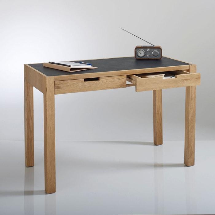 bureau plateau imitation peau 2 tiroirs watford bois clair naturel la redoute interieurs la. Black Bedroom Furniture Sets. Home Design Ideas