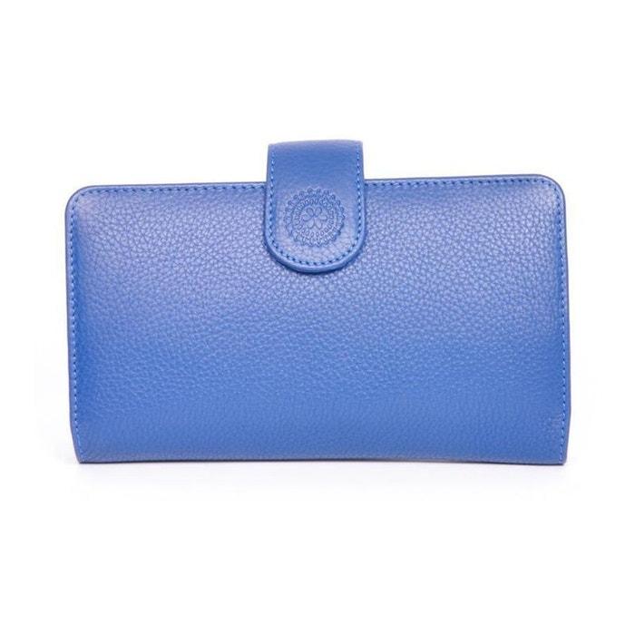 Portefeuille cuir empreinte 3 C Vente Fiable Vente Authentique 2wHyl5Xf