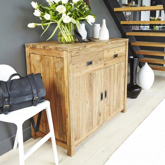 buffet en bois de teck recycl 2 tiroirs 2 portes teck recycl bois dessus bois dessous la redoute. Black Bedroom Furniture Sets. Home Design Ideas