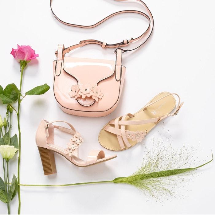 Sandales vernies brides fleurs Mademoiselle R
