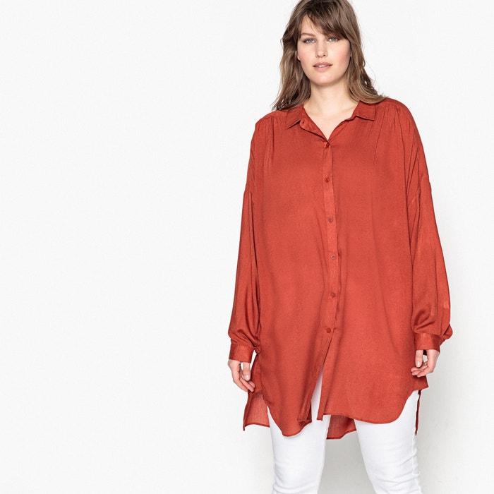 Camicetta tunica lunga plissettata davanti collo a camicia  CASTALUNA image 0