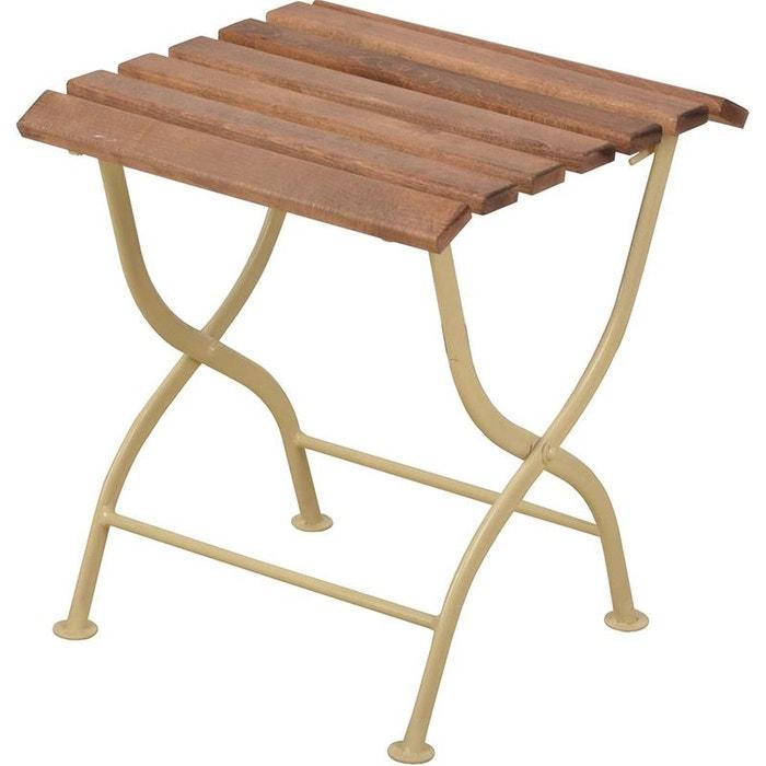 desserte en bois et m tal beige esschert design la redoute. Black Bedroom Furniture Sets. Home Design Ideas