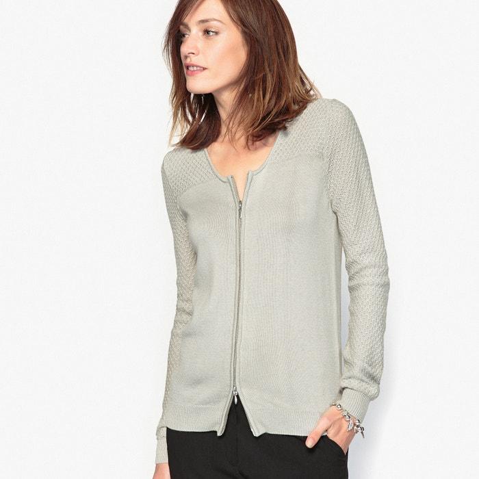 Image Cardigan zippé, 10% laine ANNE WEYBURN