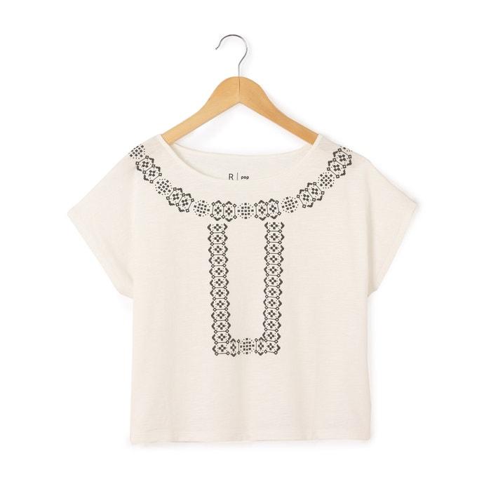 afbeelding T-shirt met ronde hals zonder mouwen La Redoute Collections