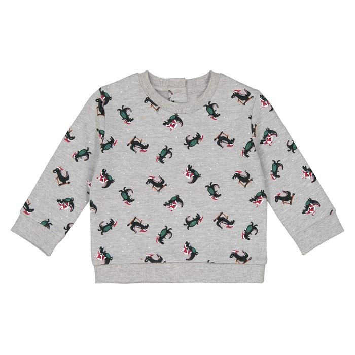 "Свитшот рождественский с принтом ""динозавр"" 1 мес - 3 лет  La Redoute Collections image 0"