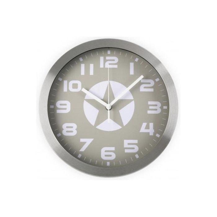 horloge murale toile grise gris versa la redoute. Black Bedroom Furniture Sets. Home Design Ideas